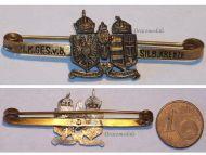 Austria Hungary WWI KuK Austro-Hungarian Silver Cross Cap Badge