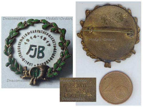 Austria Hungary WWI 11th Field Hunters Battalion Cap Badge 1914 1917 KuK WW1 Patriotic Decoration by Morzsanyi