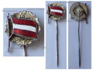Austria WWI Republic German-Austria Flag Stickpin Cap Badge 1918 1919