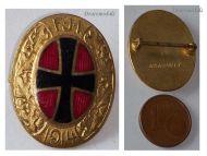 Austria Hungary WW1 Kaiser Franz Joseph FJI 1914 Patriotic Cap Badge 1918 KuK War Support Austro-Hungarian