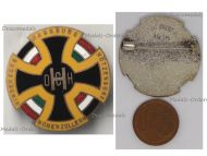 Austria Hungary WWI Cap Badge with the Central Powers Flags Black Cross Hohenzollern Habsburg Hindenburg Hotzendorf by the Office for War Effort