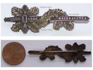 Austria Hungary WWI Christmas 1916 Cap Badge Sword & Pine Leaves