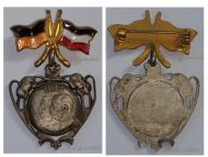 Austria Hungary WWI United Kaisers Cap Badge 1914 Central Powers Flags