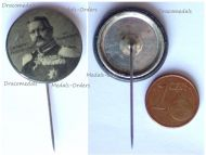 Austria Hungary Germany WWI Field Marshal Paul von Hindenburg Patriotic Cap Badge Stickpin