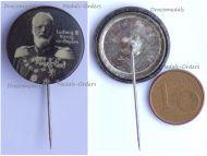 Austria Hungary Germany WWI King Ludwig III of Bavaria Patriotic Cap Badge Stickpin