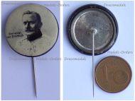 Austria Hungary Germany WWI General Otto von Emmich Patriotic Cap Badge Stickpin