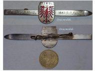 Austria WW2 Tirol Eagle Patriotic brooch Reservist Pin Dated 1948 Austrian 2nd Republic