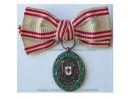 Austria Hungary WWI Red Cross Silver Merit Medal with War Decoration 1864 1914 MINI