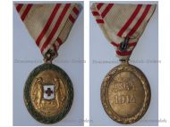 Austria Hungary WWI Red Cross Bronze Merit Medal with War Decoration 1864 1914