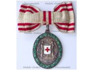 Austria Hungary WWI Red Cross Silver Merit Medal 1864 1914 with War Decoration by V. Mayers