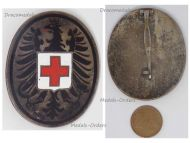 Austria Red Cross Doctor Medic Badge Military Medal Numbered 181 2nd Austrian Republic