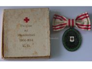 Austria Hungary WWI Red Cross Silver Merit Medal with War Decoration 1864 1914 by G.A. Scheid Boxed