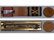 Austria WW1 Kaiser Karl's Cross Troops Bravery Military Medal Germany Hindenburg ribbon bar 1914 1918