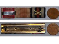 Austria WW1 Kaiser Karl's Cross Troops Bravery Military Medal Germany Hindenburg ribbon bar 1914 1918