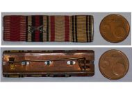 Austria WW1 Kaiser Karl's Mobilization Jubilee Cross Military Medal Germany Hindenburg ribbon bar 1914 1918