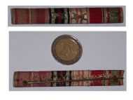 NAZI Germany WW2 Austrian Anschluss Annexation 1939 Hindenburg Cross Bravery Medals Ribbon Bar German