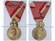 Austria Hungary WW1 Signum Laudis Military Merit Medal with Crown & Swords Bronze Class Kaiser Karl 1917 1918