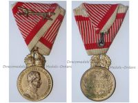 Austria Hungary WW1 Signum Laudis Military Merit Medal with Crown & Swords Bronze Class Kaiser Karl 1917 1918