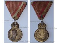 Austria Hungary WWI Signum Laudis Military Merit Medal with Crown Bronze Class Kaiser Karl 1917 1918
