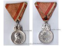 Austria Hungary Signum Laudis Crown Austrian WW1 Medal 1917 1918 Kaiser Karl KuK Decoration Silvered Bronze