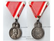 Austria Hungary Signum Laudis Crown Austrian WW1 Medal 1917 1918 Kaiser Karl KuK Decoration Silvered Zinc
