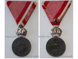 Austria Signum Laudis Crown Austrian WW1 Medal 1917 1918 FJ KuK Decoration Silver Zinc