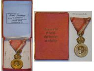 Austria Hungary WWI Signum Laudis Military Merit Medal with Crown Bronze Class Kaiser Franz Joseph 1886 1916 Boxed by Zimbler