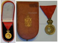 Austria Hungary WWI Signum Laudis Military Merit Medal with Crown Bronze Class Kaiser Franz Joseph 1886 1916 Boxed