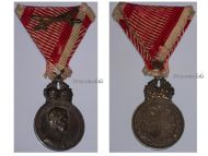 Austria Signum Laudis Crown Austrian WW1 Medal 1917 1918 Karl KuK Decoration Silver
