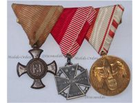 Austria Hungary WW1 Iron Cross Troops Kaiser Karl Austrian Great War Commemorative Medal Military Medals set FJ KuK WWI 1914 1918