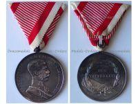 Austria Hungary WWI Large Silver Tapferkeit Bravery Medal 1st Class Kaiser Franz Jozeph 1914 1916 by Leisek