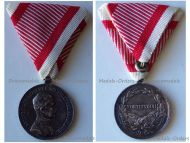 Austria Hungary WWI Silver Fortitudini Medal for Bravery 2nd Class Kaiser Karl 1917 1918 by Kautsch