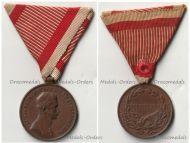 Austria Hungary WWI Bronze Fortitudini Medal for Bravery 3rd Class Kaiser Karl 1917 1918 by Kautsch