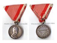Austria Fortitudini Medal Bravery Silver 2nd Class Austrian WW1 Kaiser Karl 1917 1918 Decoration Great War