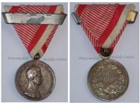 Austria Hungary WWI Silver Fortitudini Medal for Bravery 2nd Class with Repetition Clasp Kaiser Karl 1917 1918 by Kautsch
