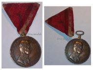 Austria Hungary WWI Large Gold Fortitudini Medal for Bravery 1st Class Kaiser Karl 1917 1918 by HMA Signed Kautsch