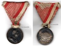 Austria Hungary WWI Small Silver Tapferkeit Bravery Medal 2nd Class Kaiser Franz Jozeph 1914 1916 by Tautenheyn