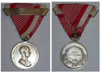 Austria Hungary WWI Small Silver Tapferkeit Bravery Medal 2nd Class with Repetition Bar Kaiser Franz Jozeph 1914 1916 Unsigned