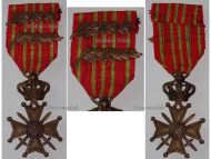 Belgium WWI War Cross with 2 Palms of King Albert
