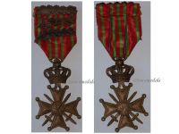 Belgium WWI War Cross with 3 Palms of King Albert