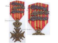 Belgium WWI War Cross 1914 1918 with 3 palms King Albert's Royal Cipher