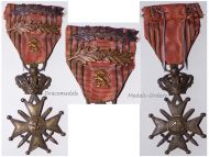 Belgium WWII War Cross with 2 Palms LIIIL Gold Lion King Leopold III