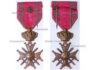 Belgium WWII War Cross with Bronze Lion King Leopold III