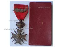 Belgium WWII War Cross with Palms L King Leopold III by DeVigne Hart Boxed