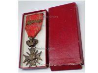 Belgium WW2 War Cross Medal Croix Guerre 1939 1945 palms L Belgian Merit WWII Decoration King Leopold III Boxed