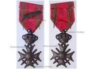 Belgium WWII War Cross with Palms L King Leopold III