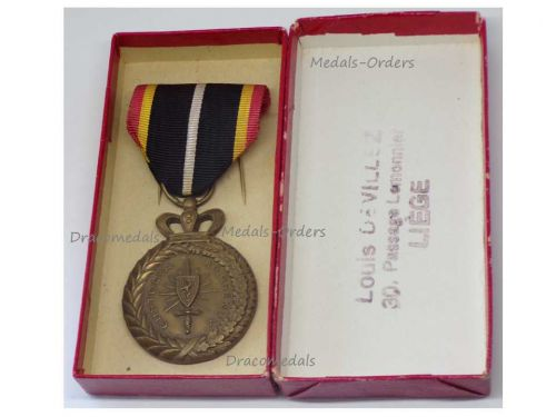 Belgium WWI WWII Belgian Occupational Forces in Rhineland Military Medal 1918 1929 1945 1955 Boxed by DeVillez