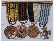 Belgium WW2 Armed Resistance Combatants Political Prisoners Ghent Commemorative Military Medals set Decoration Award WWII 1940 1945 MINI