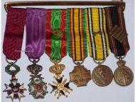 Belgium WW2 Order Crown Leopold Military Cross PoW Medals set Decoration Award WWII 1940 1945 MINI