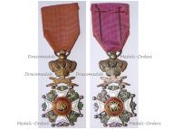 Belgium Order Leopold I Officer's Cross Military Division 1952 Bilingual